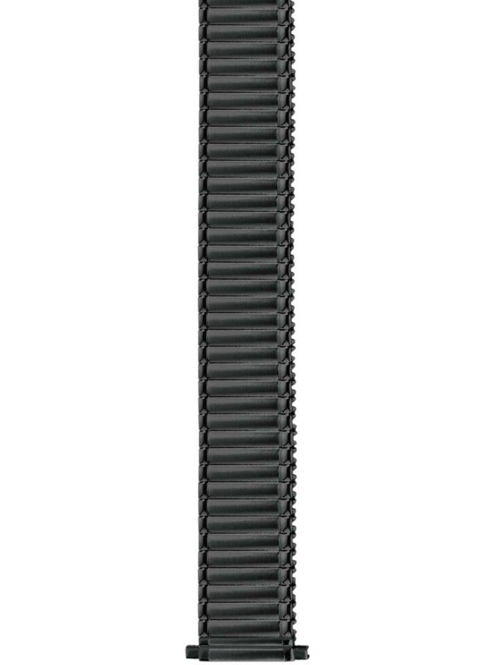 Flex-Bänder Edelstahl/PVD-schwarz Teleskop + Festanstoß
