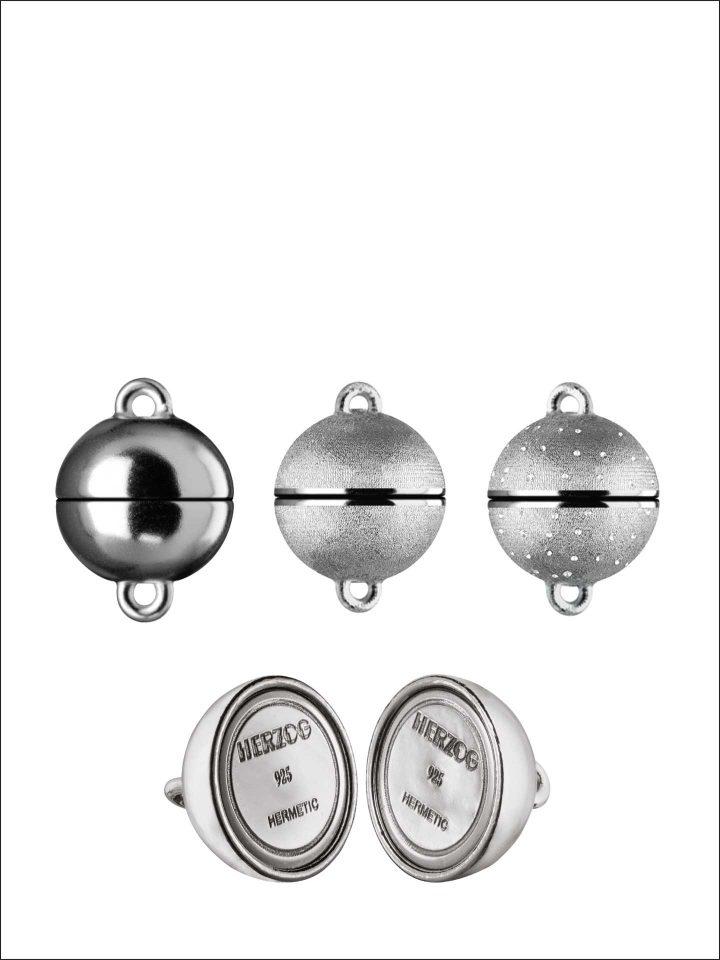 Magnetschließen HERMETIC-SYSTEM Silber rhodiniert