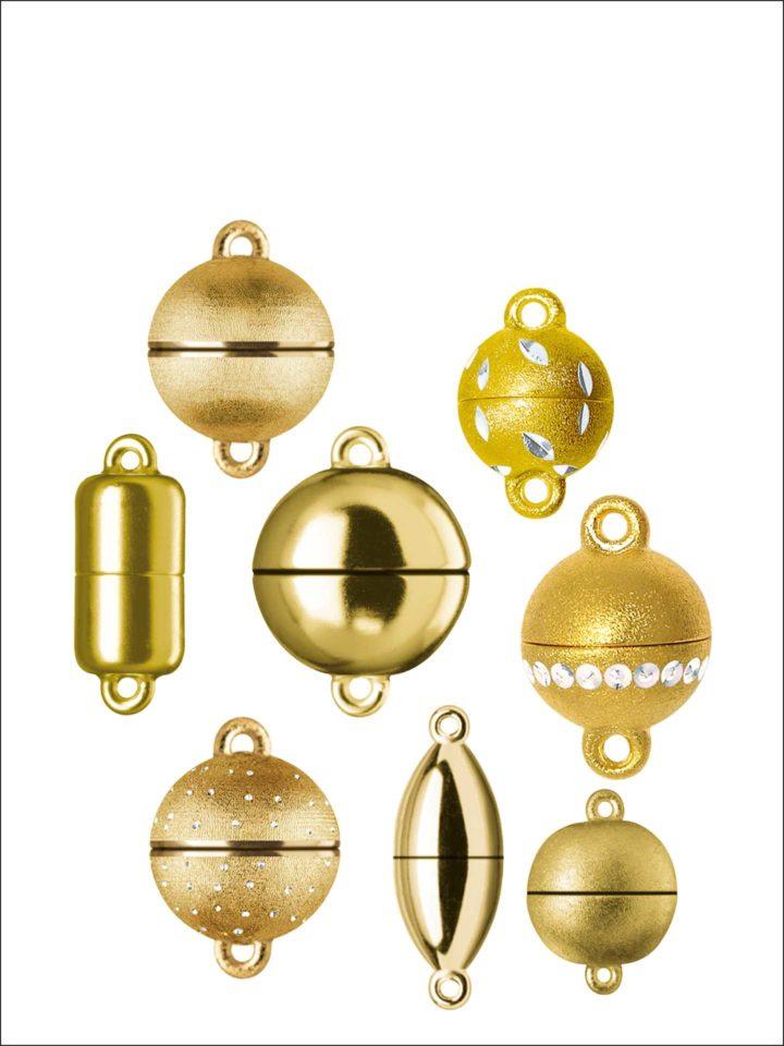 Magnetschließen Silber goldplattiert Standard